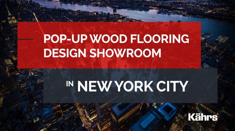 Pop-up wood flooring design showroom